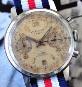 【送料無料】腕時計 ウォッチヴィンテージクロノグラフフランスタキメーターテレメーターvintage wakmann chronograph watch nastrix france venus 188 tachymeter telemeter