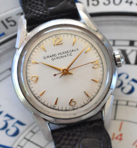 【送料無料】腕時計 ウォッチヴィンテージジャイロマティックステンレススチールvintage 1950s girard perregaux gyromatic stainless steel watch runs looks great