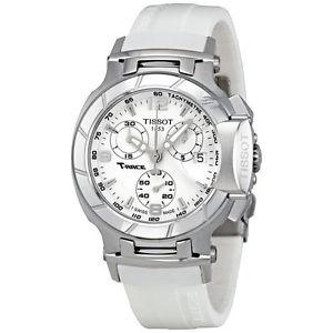 【送料無料】腕時計 ウォッチティソレースクロノグラフホワイトラバーストラップレディースt0482171701700 tissot trace womens chronograph white rubber strap watch ladies