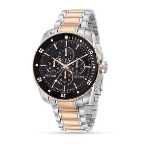 【送料無料】腕時計 ウォッチセクターグラフィカルウォッチビコオロorologio uomo sector 350 r3273903003 cronografo vetro zaffiro watch bicolore oro