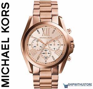 【送料無料】腕時計 ウォッチミハエルクロノグラフウォッチケースローズレディースmichael kors mk5503 ladies 43mm bradshaw pvd rose plated case chronograph watch