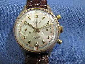 【送料無料】腕時計 ウォッチグラフィカルメッカニコロビンテージflamor cronografo meccanico vintage laminato oro tasti a pompa usato 9