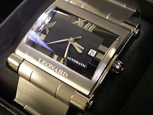 【送料無料】腕時計 ウォッチレナードドームサファイアクリスタルスイスleonard large screen automatic domed sapphire crystal swiss 25 jewel eta 28242