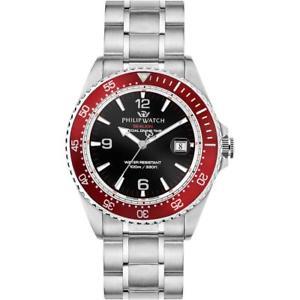 【送料無料】腕時計 ウォッチフィリップアシカネロロッソスイスorologio uomo philip watch sealion r8253209002 acciaio nero rosso swiss made