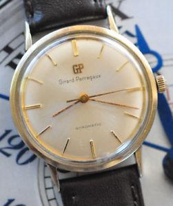 【送料無料】腕時計 ウォッチビンテージジャイロマチックkゴールドフィルウォッチvintage girard perregaux gyromatic 10k goldfill watch runs amp; looks great