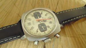 腕時計 ウォッチクロノネットパンダスラムchrono suisse ancien mcanique net acier date panda valjoux 7734 restaur rvis