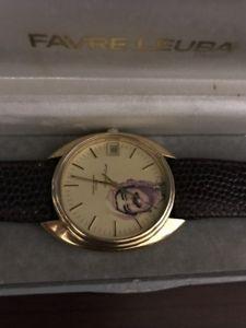 腕時計 ウォッチファーブルジュネーブサダムフセインイボックスfavre leuba geneve automatic gold filled large 36mm saddam hussein iraq with box