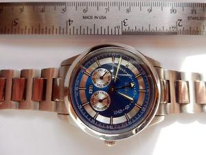 腕時計 ウォッチスイスハイテクテイラーブレスレットフライバックトリプルカレンダーボックスオン