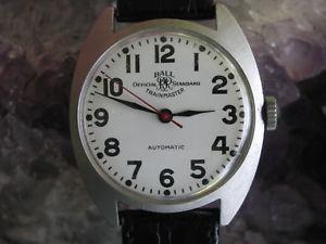 腕時計 ウォッチボールビンテージスチールneues angebotball icial rr standard trainmaster vintage steel railroad wrist watch