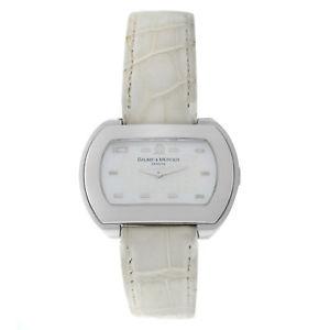 【送料無料】腕時計 ウォッチメルシエハンプトンステンレススチールモップクォーツauthentic ladies baume amp; mercier hampton 65469 stainless steel mop quartz watch