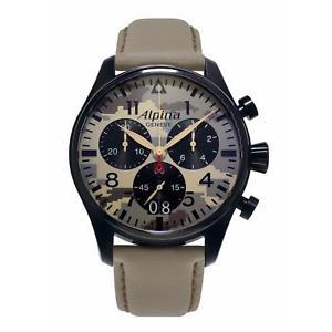 【送料無料】腕時計 ウォッチアルピナパイロットメンズクォーツアルウォッチalpina mens startimer pilot desert camouflage quartz watch al372mly4fbs6