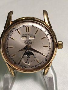 腕時計 ウォッチヴィンテージトリプルカレンダームーンフェイズメンズヴィーナスvintage 1950s ultramar triple calendar moonphase mens wristwatch cal venus 203