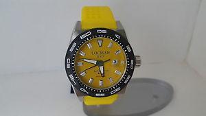 【送料無料】腕時計 ウォッチステルスシリコーンウォッチorologio locman stealth 215 giallo acciaio silicone fondo titanio 300m watch