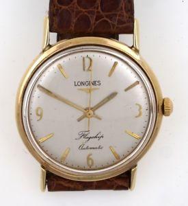 【送料無料】腕時計 ウォッチゴールドビンテージスイスlongines flagship solid 9ct gold swiss gents automatic vintage wristwatch