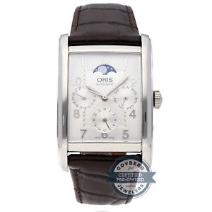 腕時計 ウォッチオリスoris rectangular complication watch 582 7694 4061ls