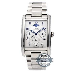 腕時計 ウォッチオリススチールoris rectangular complication automatic steel watch 582 7694 4031mb