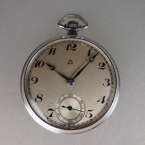 【送料無料】腕時計 ウォッチアールデコポケットアルピナウォッチart deco herrentaschenuhr alpina ab 1930 sehr gut erhalten 50593