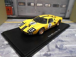 Ford Usa Gt40 59 24h Le Mans 1966 White Model Box 1 43 Mb8453 Model
