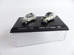 【送料無料】模型車 モデルカー スポーツカーアトラスatlas norev 2 cars citron 2cv 187 eme