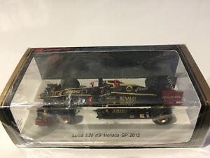 【送料無料】模型車 モデルカー スポーツカーロータスルノーモナコライコネンスパークlotus renault e20 monaco gp 500th gp 2012 raikkonen spark 143
