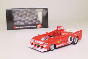 【送料無料】模型車 モデルカー スポーツカーアルファロメオキロモンツァbrumm r239 alfa romeo 33tt12; 1975 1000km monza, pescarolobell; excellent boxed