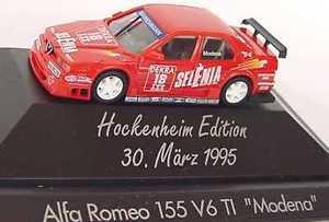 【送料無料】模型車 モデルカー スポーツカーアルファロメオステファノモデナ187 alfa romeo 155 v6 ti dtm 1995 selena 18 stefano modena
