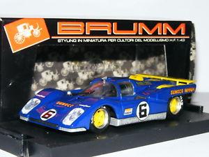 【送料無料】模型車 モデルカー スポーツカーフェラーリデイトナ#brumm r229 ferrari 512m sunoco 1971 daytona 24 hours 6 143