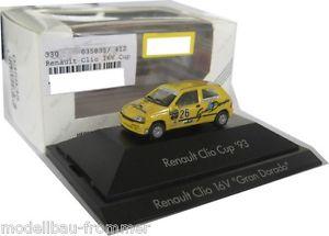 【送料無料】模型車 モデルカー スポーツカールノークリオカップグランシュミットherpa 035835 renault clio 16v cup gran dorado a schmid