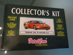 【送料無料】模型車 モデルカー スポーツカーフェラーリコレクタキットferrari 348 tb, red, detailcars, collectors kit 143 ovp