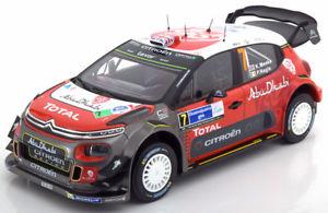 Citroen C3 WRC Test Car  Rallye WRC 2017  Meeke Breen Lefebvre  1:43 Spark 5158