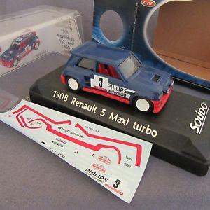 【送料無料】模型車 モデルカー スポーツカールノーマキシターボカルロ#600e solido 1908 renault 5 maxi turbo ragnotti building carlo 1985 3