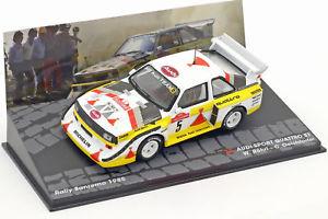 【送料無料】模型車 モデルカー スポーツカーアウディクワトロスポーツラリーサンレモaudi quattro sport s1 rally sanremo 1985 w rhrl, c geistdrfer 143 altaya