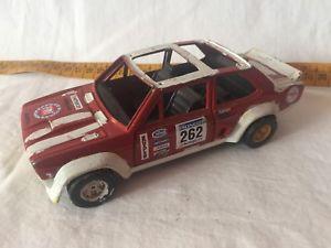 【送料無料】模型車 モデルカー スポーツカーフィアットラリーburago 124 fiat 131 abart rally used