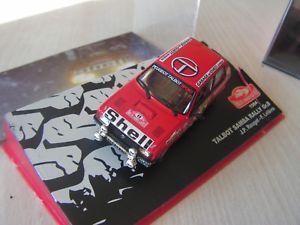 【送料無料】模型車 モデルカー スポーツカータルボットラリーセリエ143 car eme talbot samba rally 1984 serie 14