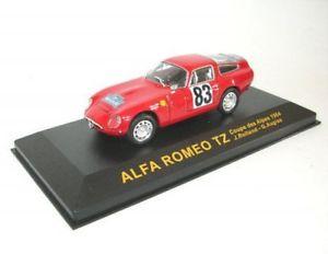 【送料無料】模型車 モデルカー スポーツカーアルファロメオクーペalfa romeo tz, no83 j rolland, g augean coupe of alpers 1964
