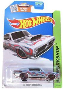 【送料無料】模型車 モデルカー スポーツカーホットホイールバーダメタリックグレーワークショップhot wheels 68 hemi barracuda metallic grey hw workshop heat fleet cfl55