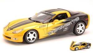 【送料無料】模型車 モデルカー スポーツカーコルベットレーシングイエローモデルcorvette c6 gt racing yellow 124 motormax mtm73774y model