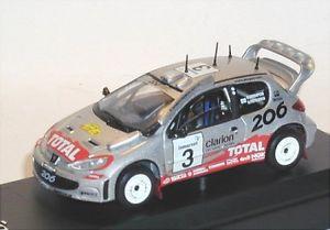 【送料無料】模型車 モデルカー スポーツカープジョーpeugeot 206 wrc 3 hrovanperaerdietilainen