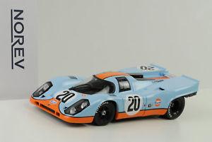 【送料無料】模型車 モデルカー スポーツカーポルシェ#ルマンベル1970 porsche 917 917k 20 gulf 24 h le mans siffert bell 118 norev