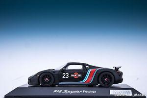 【送料無料】模型車 モデルカー スポーツカースパークポルシェスパイダープロトタイプ#マティーニマットブラック