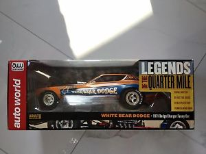 【送料無料】模型車 モデルカー スポーツカーオートワールドクマ#auto world 118 nhra white bear dodge 1971 dodge charger funny car 1161 fs 594