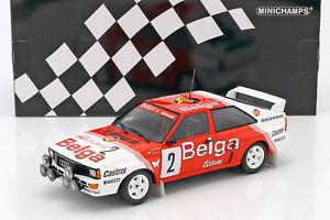 【送料無料】模型車 モデルカー スポーツカーアウディクワトロデスパaudi quattro a2 2 winner rallye boucles de spa 1985 waldegaard, thorszelius 1