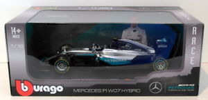 【送料無料】模型車 モデルカー スポーツカースケールメルセデスハイブリッドニコロズベルグburago 118 scale 1818001r mercedes f1 w07 hybrid nico rosberg