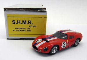 【送料無料】模型車 モデルカー スポーツカースケールマセラティマセラティ#ルマンshmr 143 scale resin 222 maserati 152 2 le mans 1963