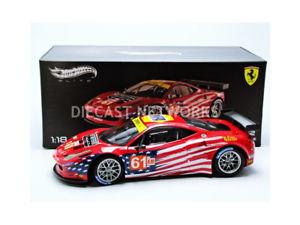 【送料無料】模型車 モデルカー スポーツカーエリートマテルフェラーリルマンhotwheels elite mattel 118 ferrari 458 gt2 gteam le mans 2012 bct7