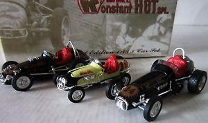 【送料無料】模型車 モデルカー スポーツカーロジャー#ホットボックススケール1963 roger mccluskey039;s konstant hot special 3 car 143rd scale set in gift box