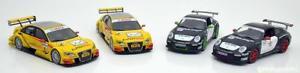 【送料無料】模型車 モデルカー スポーツカーポルシェグアテマラアウディ118 norev porscheaudi set of 4 modelcars 2x a4 dtm 2x 911 gt3 rs