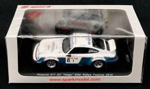 【送料無料】模型車 モデルカー スポーツカードゥルポルシェラリーフェスティバルスパークde le, porsche 911 sc heigo walter rhrl eifel rallye festival 2014 spark 143