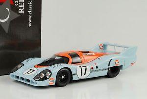 【送料無料】模型車 モデルカー スポーツカーポルシェ#ルマンベル1971 porsche 917 lh 17 gulf 24 h lemans siffert bell 118 cmr