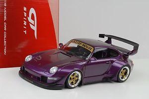 【送料無料】模型車 モデルカー スポーツカーポルシェソフトウェアライセンスバイオレットグアテマラ1998 porsche 911 993 rwb nakaisan violet 118 gt spirit gt727